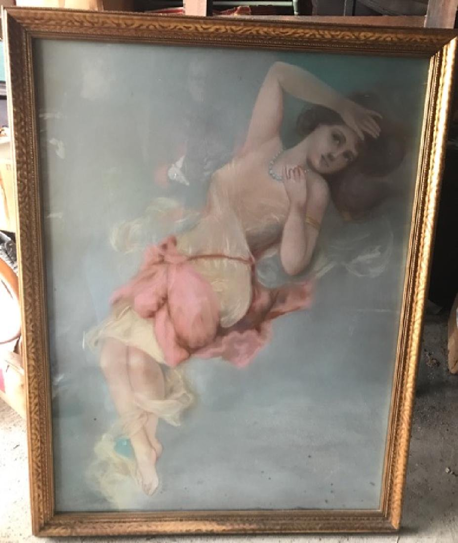 Pastel of a Draped Classical Woman, Sgd.