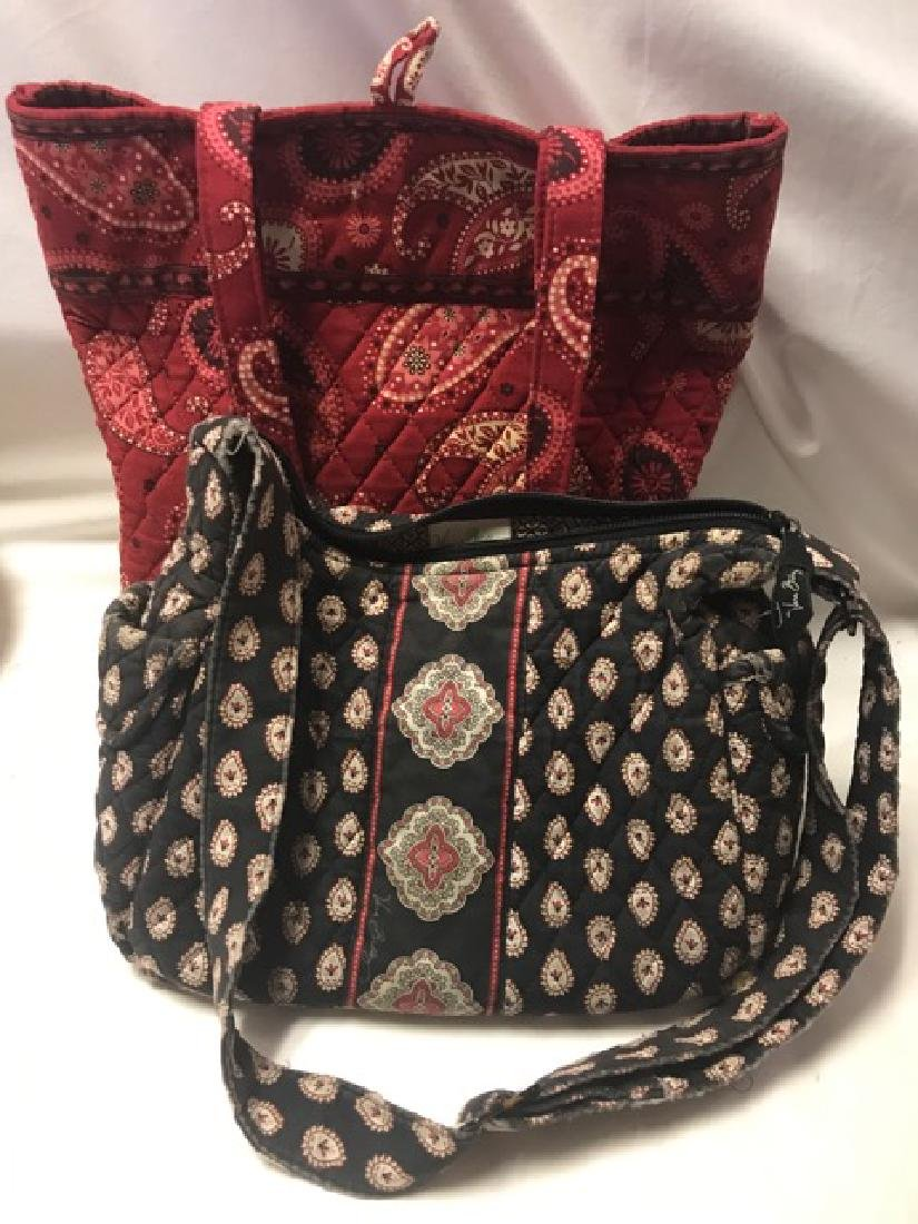 Two Vera Bradley Fabric Hand Bags