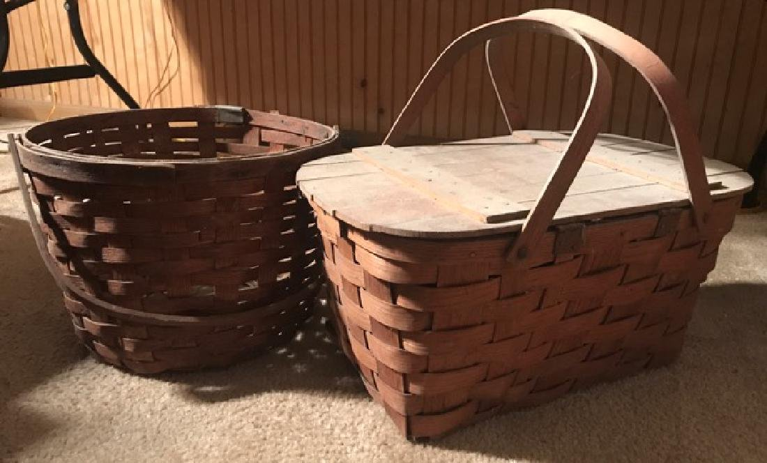Two Vintage Baskets - Gathering and Picnic