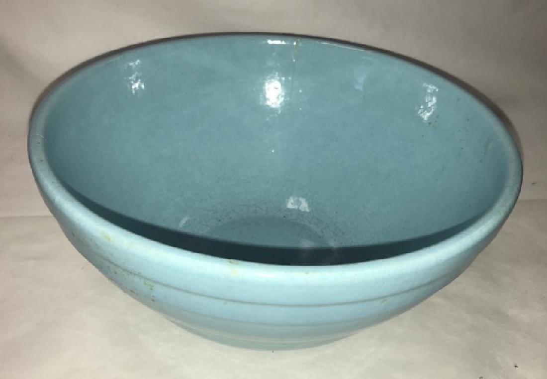 Two Mixing Bowls - Pottery and Pyrex - 5