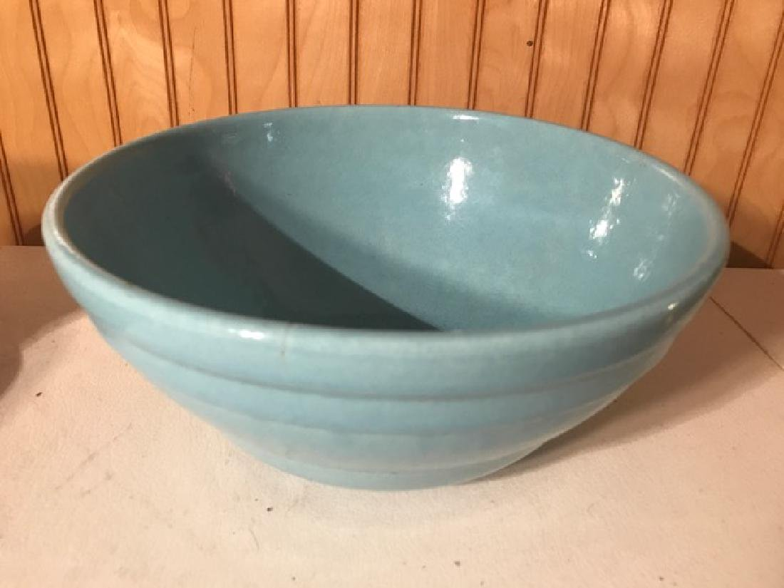 Two Mixing Bowls - Pottery and Pyrex - 8