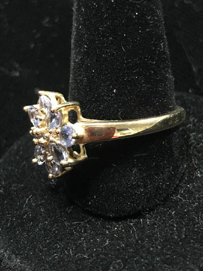 14K Gold Aquamarine Ring - 2