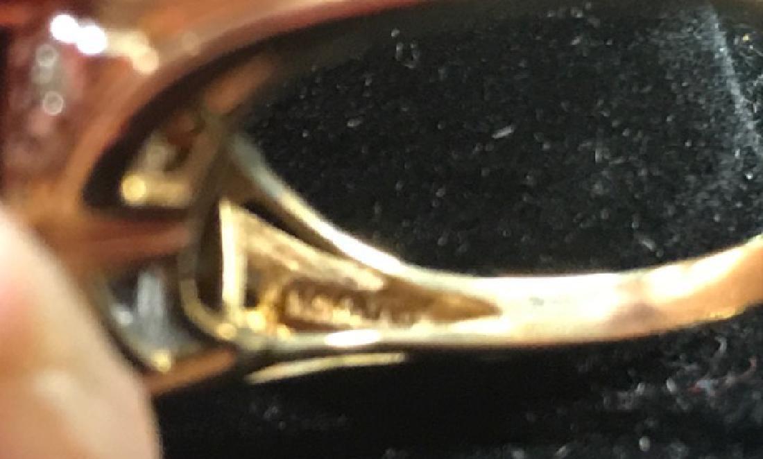 10K Gold Amethyst and Diamond Ring - 3