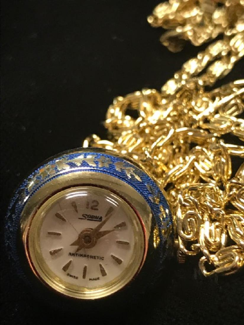 Sorna Swiss Watch Pendant