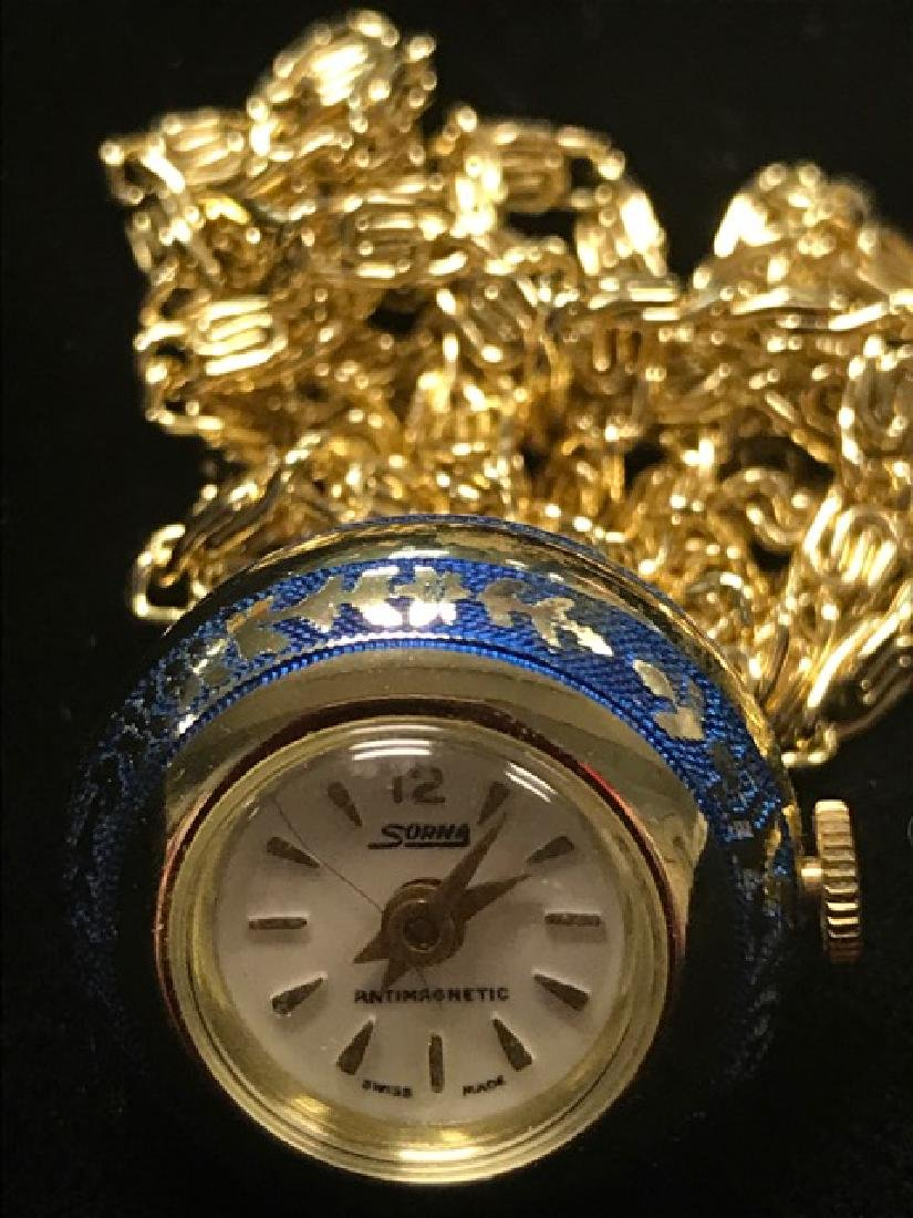 Sorna Swiss Watch Pendant - 2