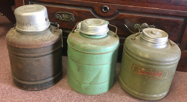 Lot of Three Vintage Gallon Insulated Jugs