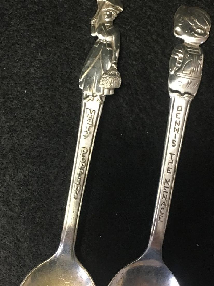 Silverplated Knife Rests and Spoons (12) - 10