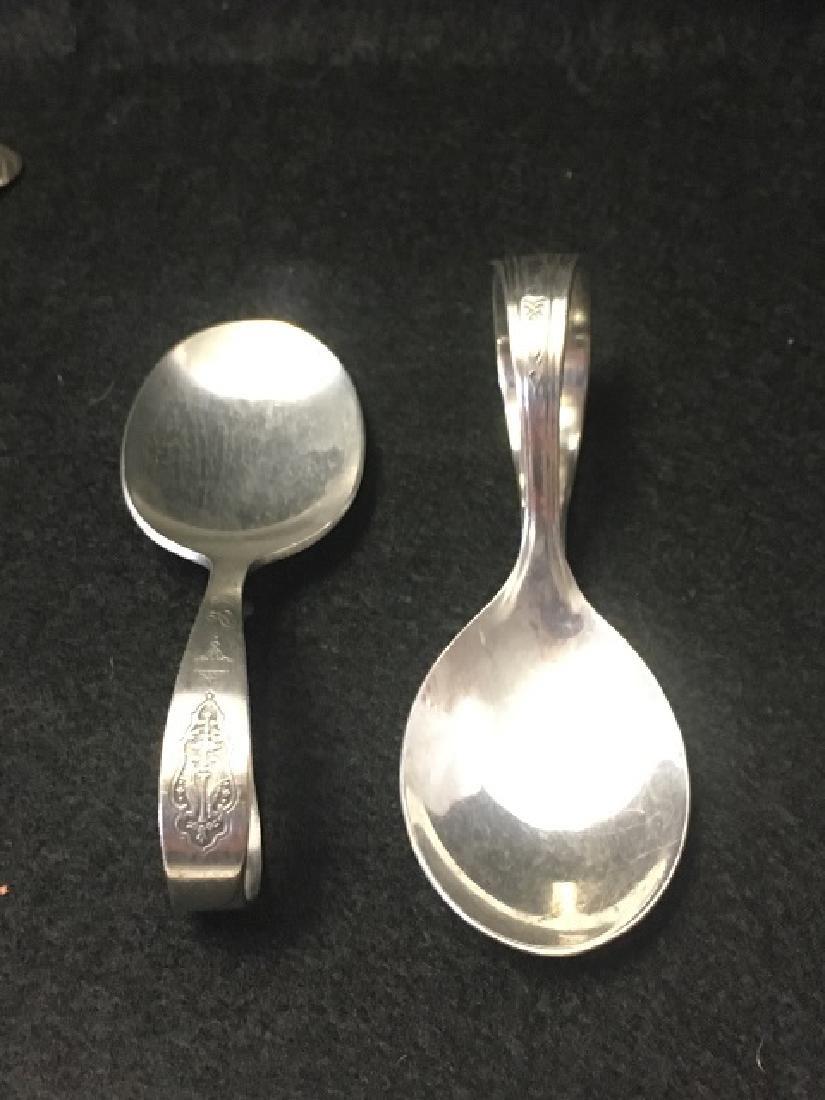 Silverplated Knife Rests and Spoons (12) - 2