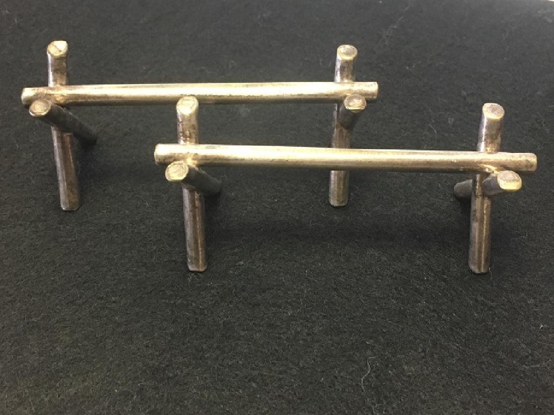 Silverplated Knife Rests and Spoons (12) - 5
