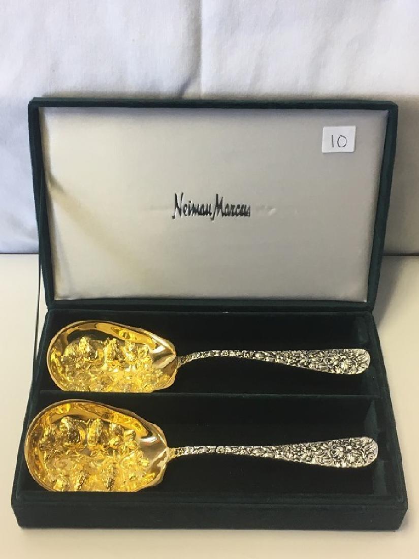 Pari Godinger Embossed Dessert Spoons
