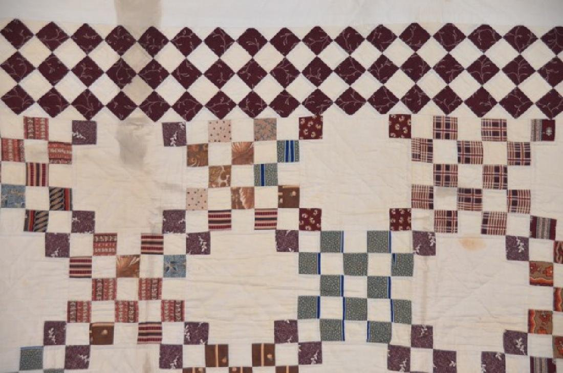 Brown and Cream Colored Quilt - 2
