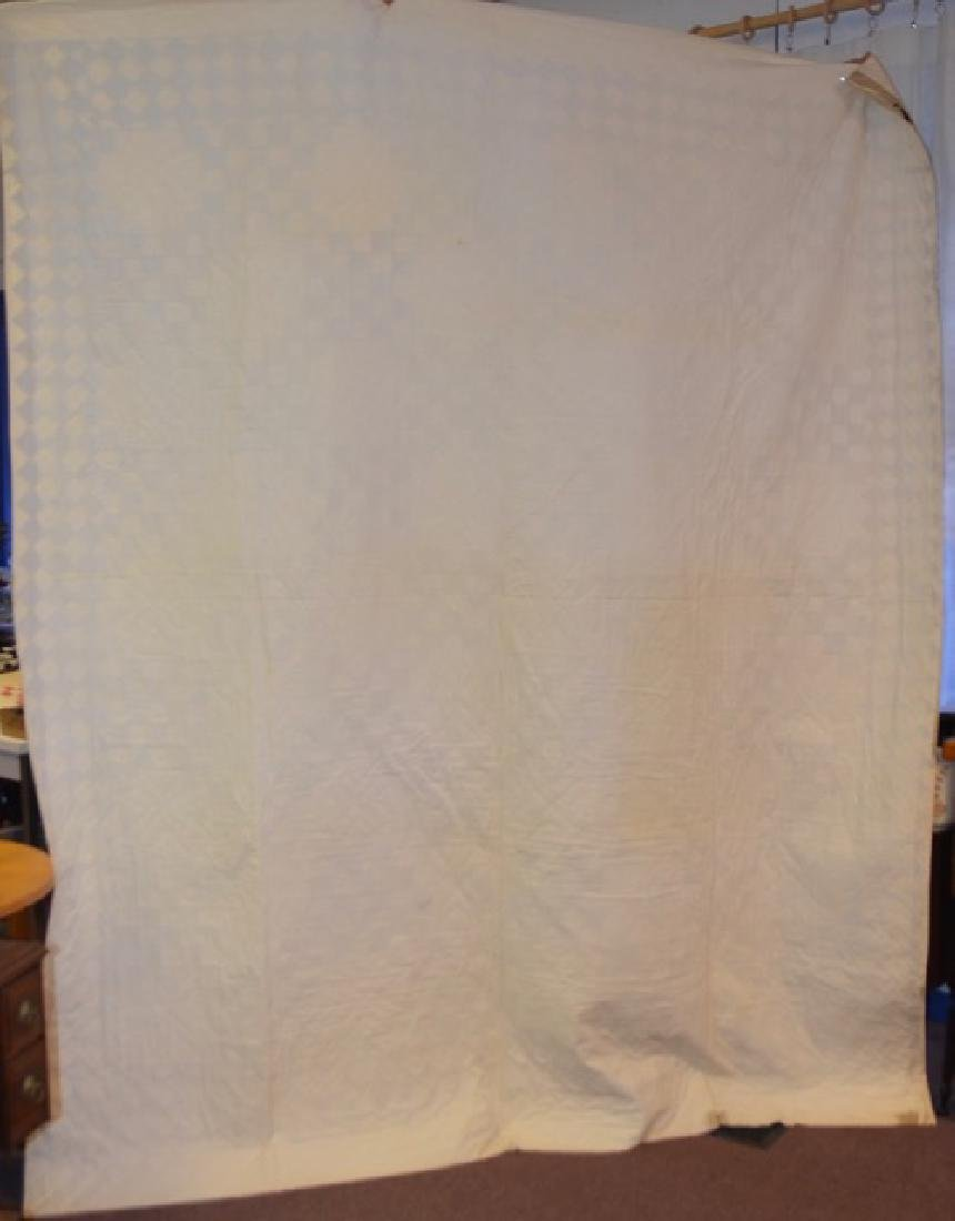 Brown and Cream Colored Quilt - 3