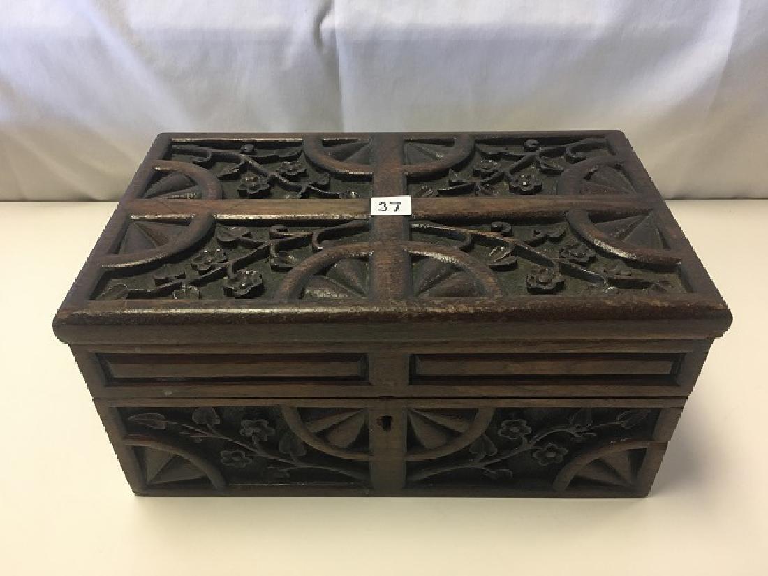 European Carved Wood Box