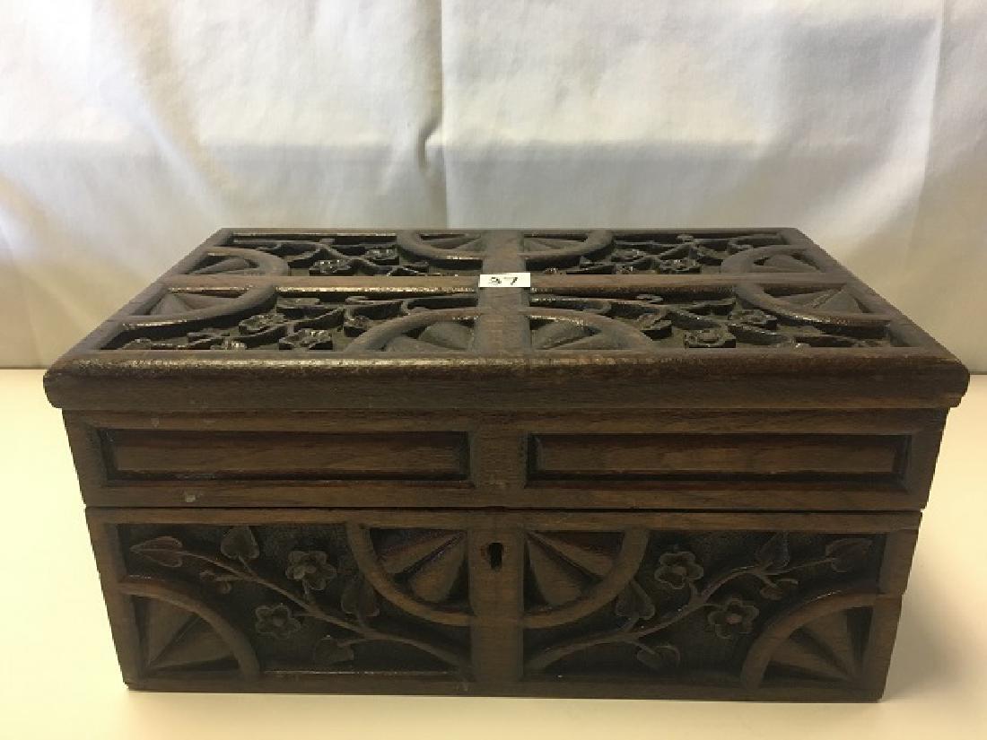 European Carved Wood Box - 2