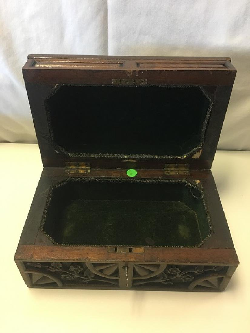European Carved Wood Box - 4