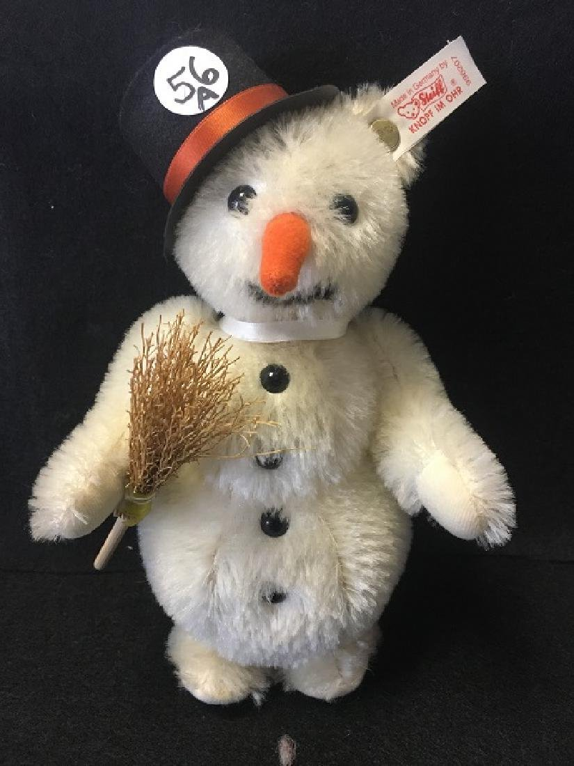 Steiff Snowman with Hat and Broom