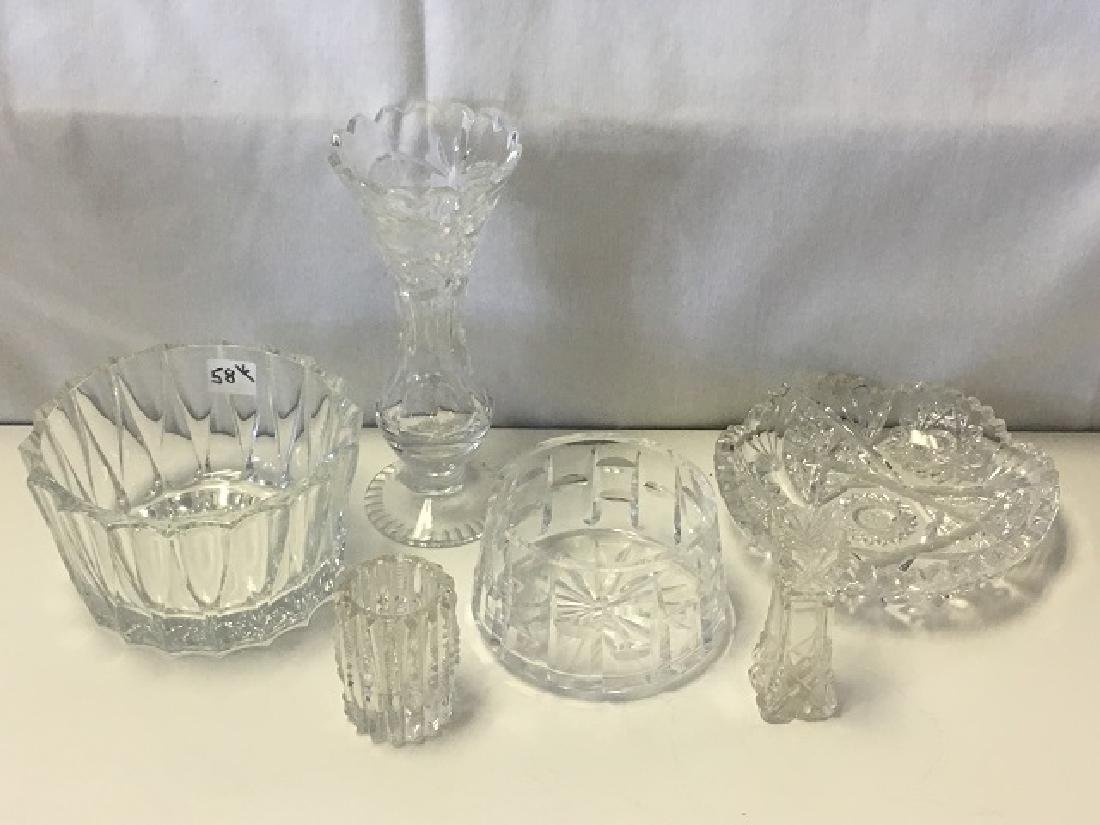 Lot of 6 Pieces Leaded and Crystal Glass