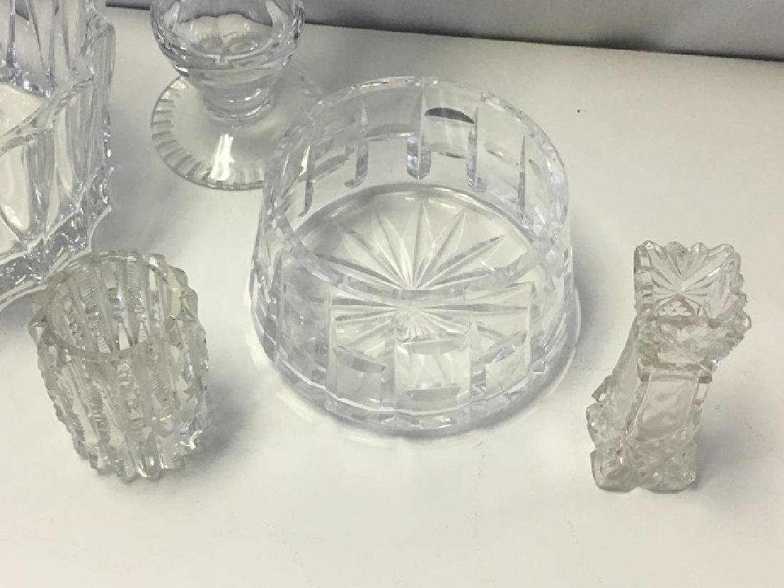Lot of 6 Pieces Leaded and Crystal Glass - 3