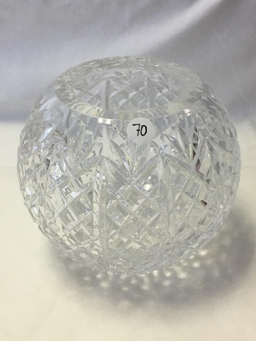 Pressed Glass Round Rose Bowl