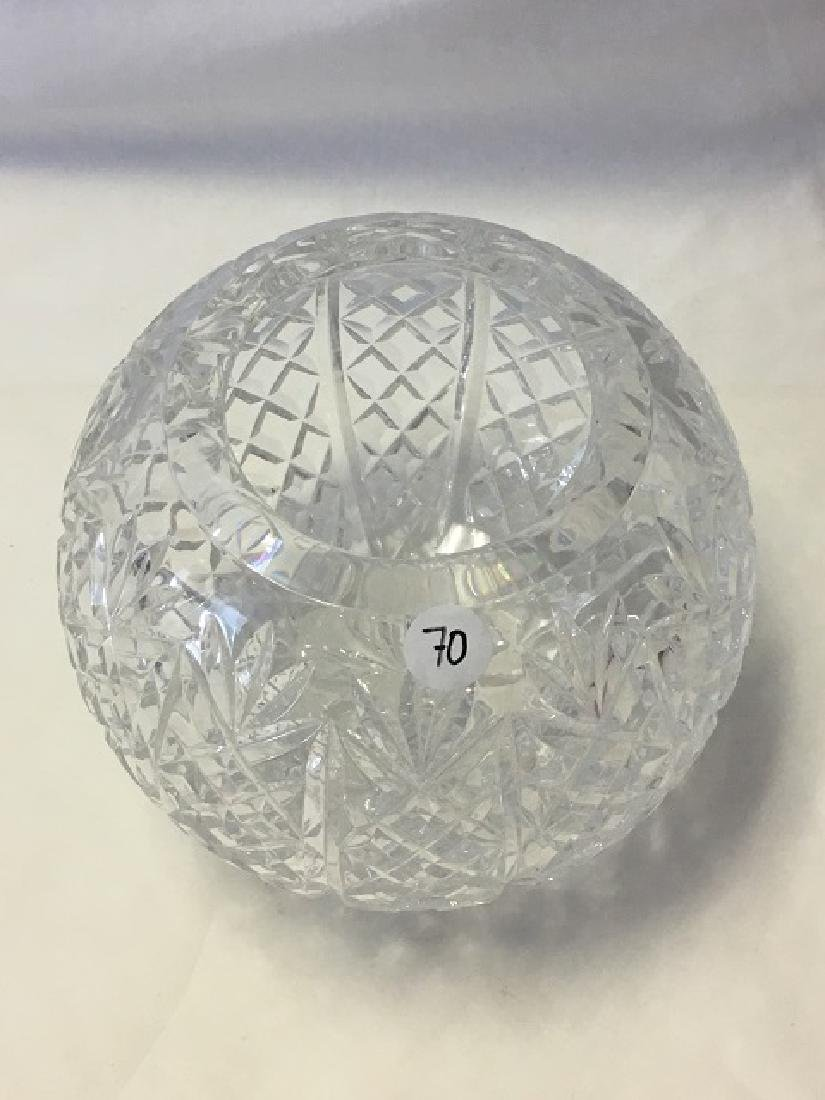 Pressed Glass Round Rose Bowl - 2