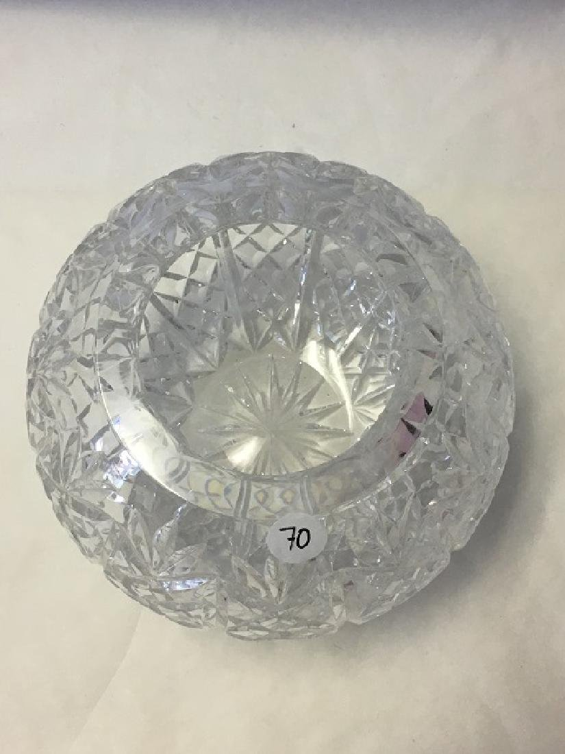 Pressed Glass Round Rose Bowl - 3