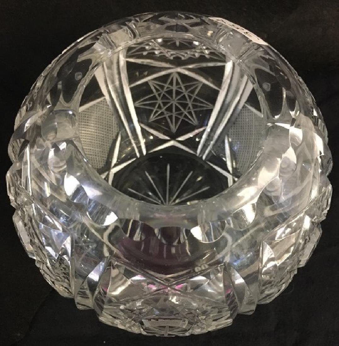 Pressed Glass Round Rose Bowl - 4