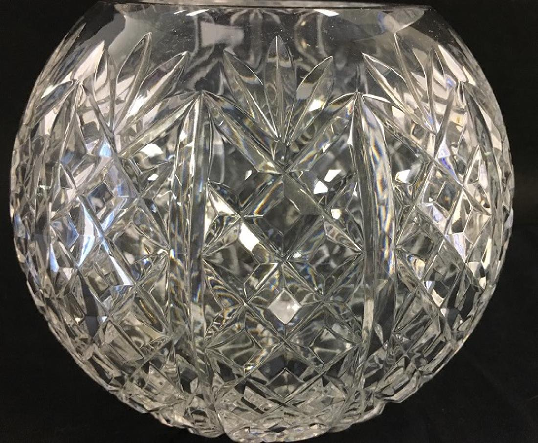 Pressed Glass Round Rose Bowl - 5