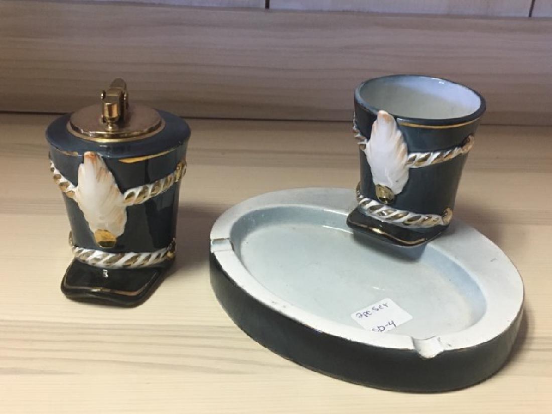 Porcelain Military Smoking Set