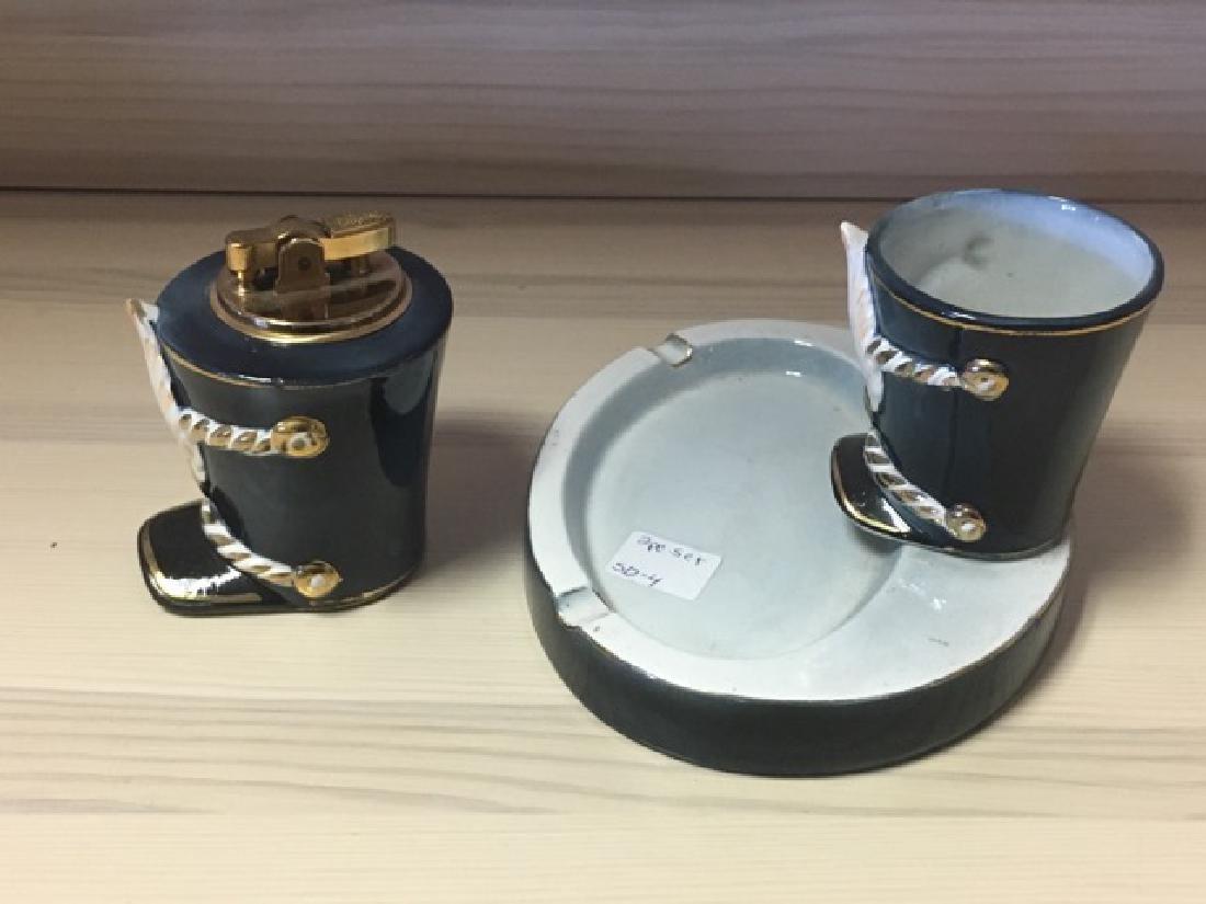 Porcelain Military Smoking Set - 2