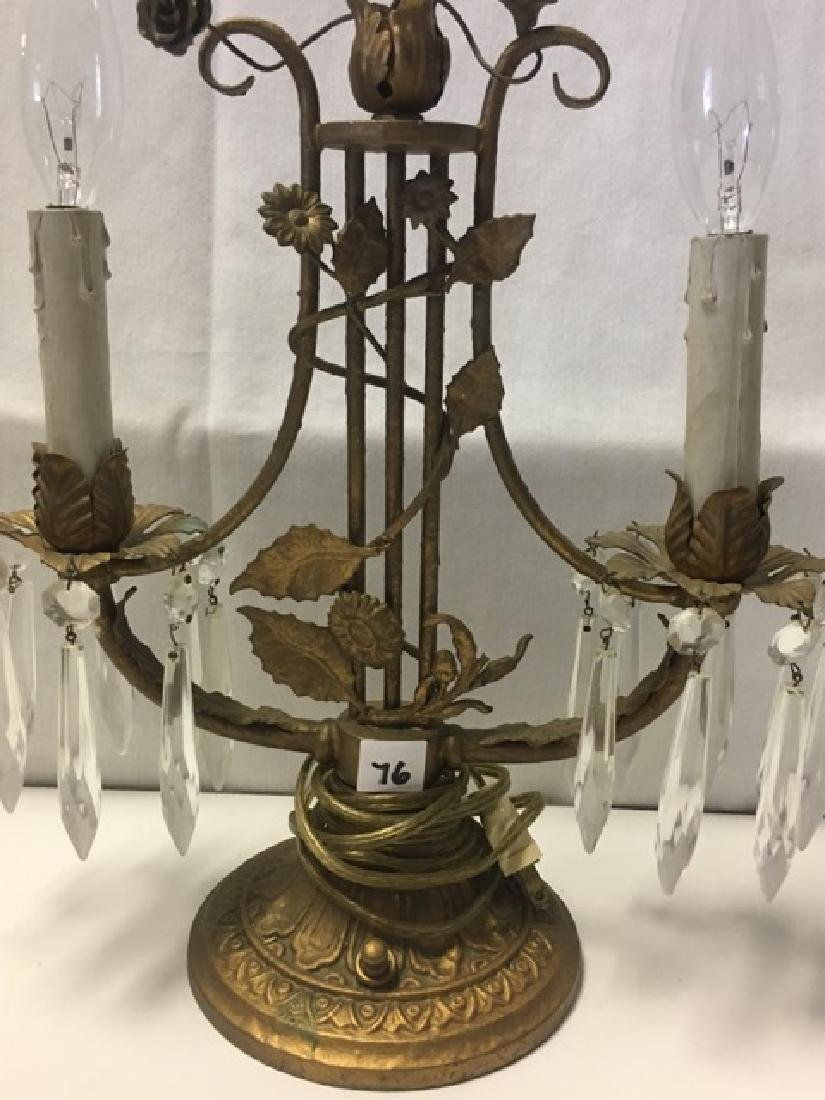 Two Branch Electrified Candle Lamp - 2