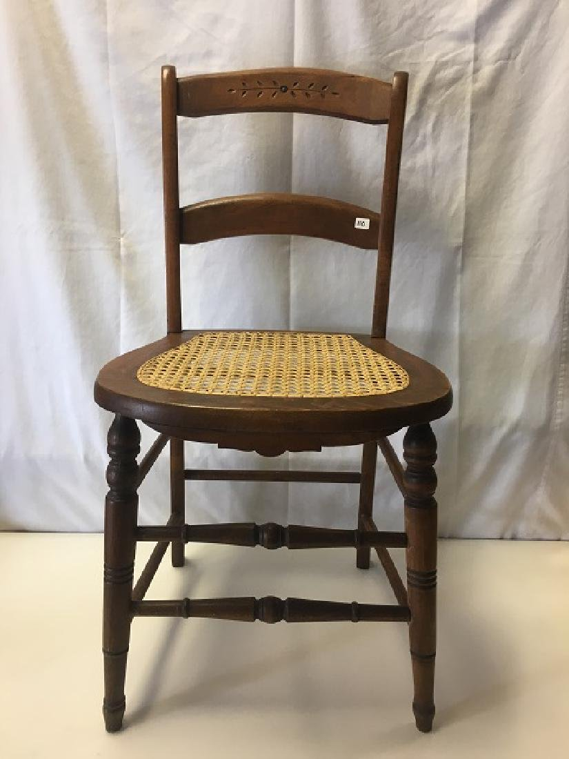 Two Caned Seat Chairs