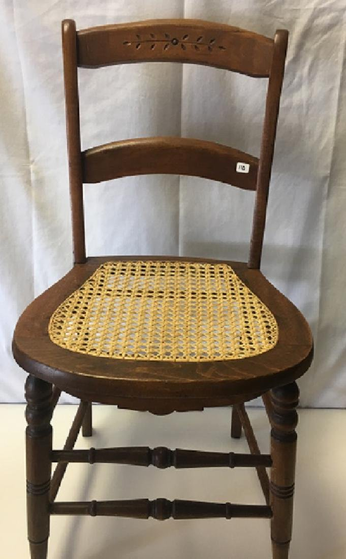 Two Caned Seat Chairs - 2