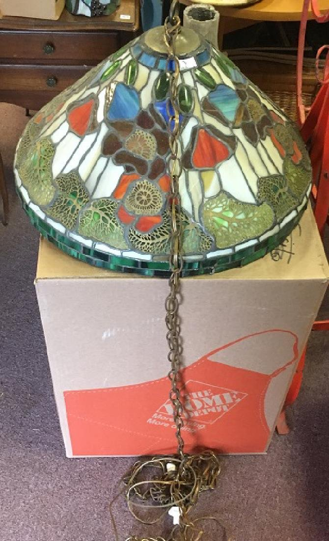 Leaded Glass Hanging Lamp - 2