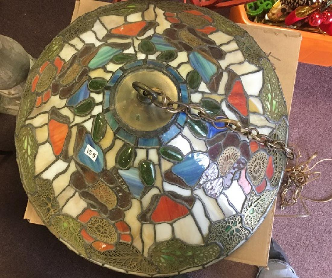 Leaded Glass Hanging Lamp - 3