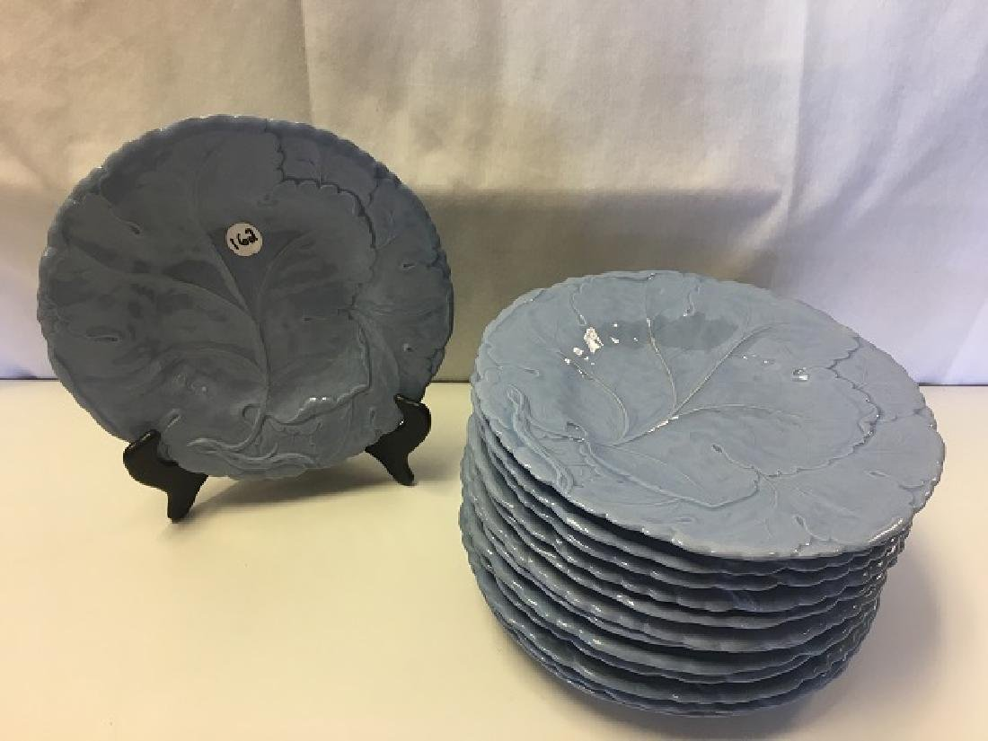 Set 13 Periwinkle Blue Cabbage Plates