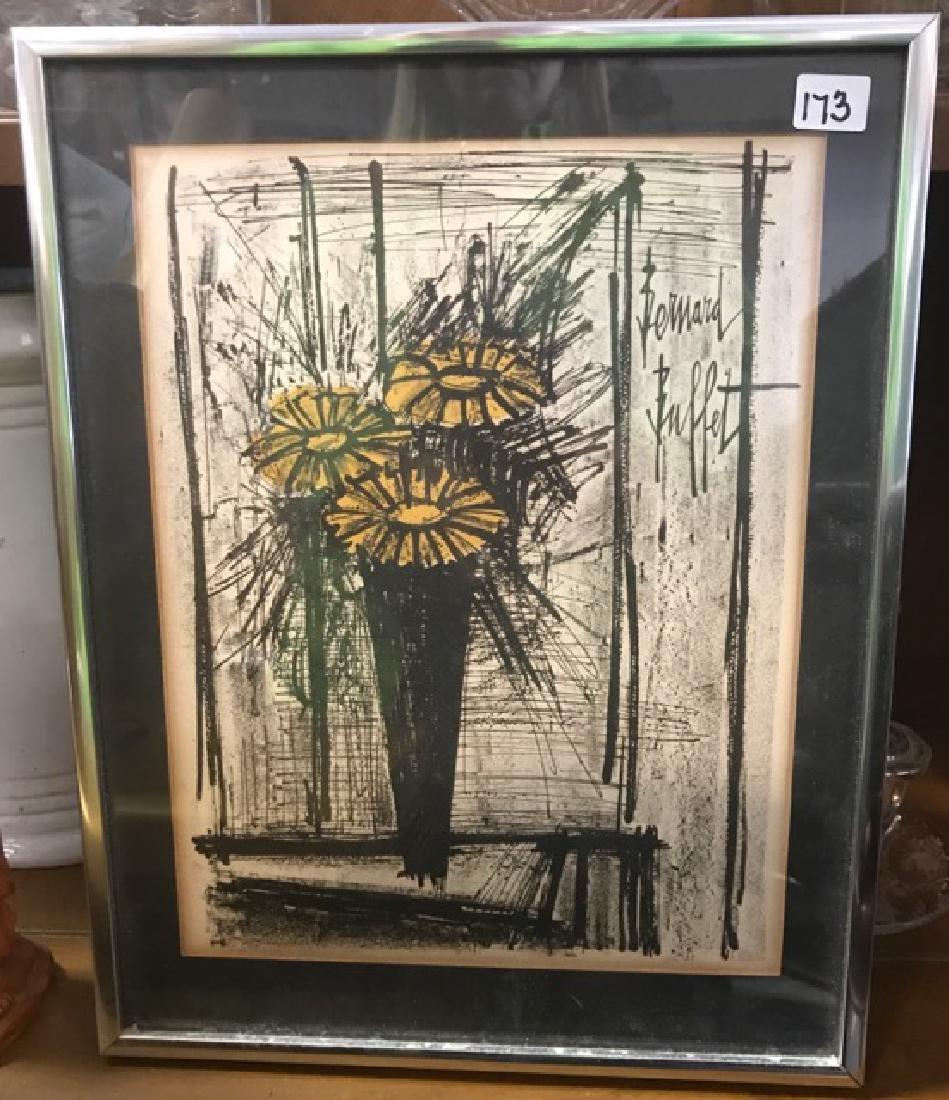 Bernard Buffet Lithograph -- Flower