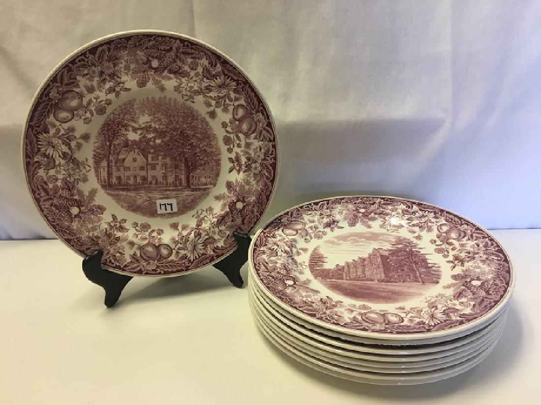 Vassar College Wedgwood Dinner Plates (9)