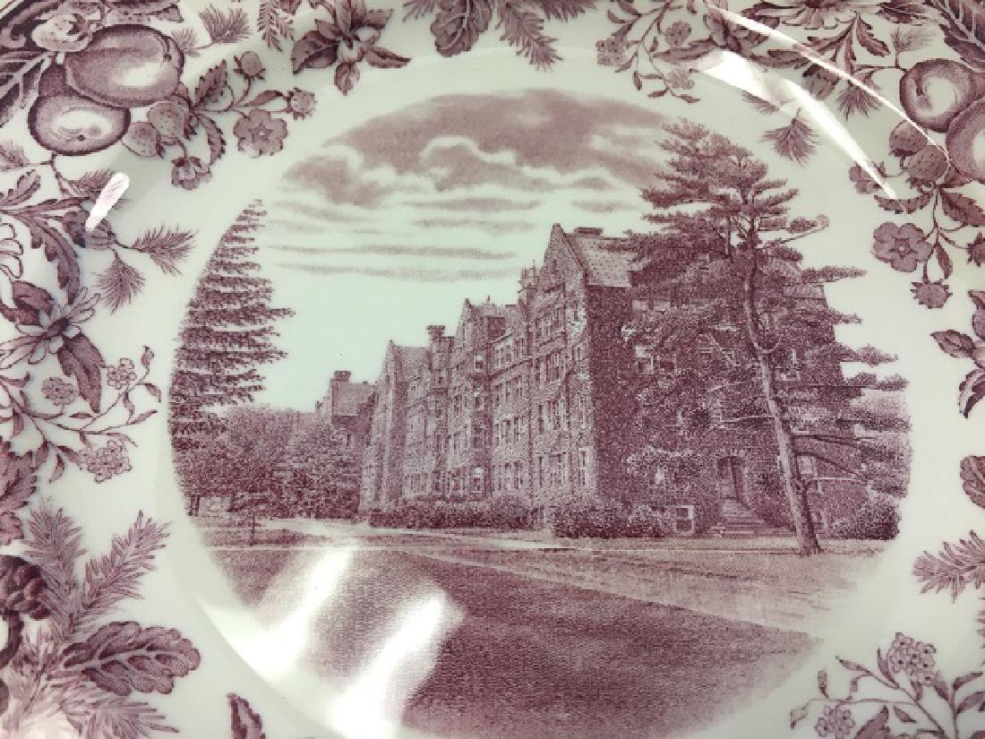 Vassar College Wedgwood Dinner Plates (9) - 4