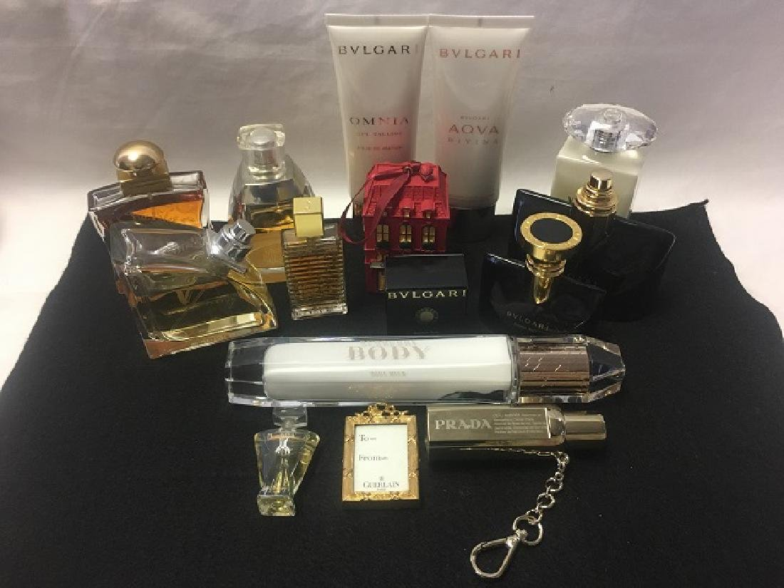 Lot of Designer Perfumes inc. Bulgari, 24 Faubourg,