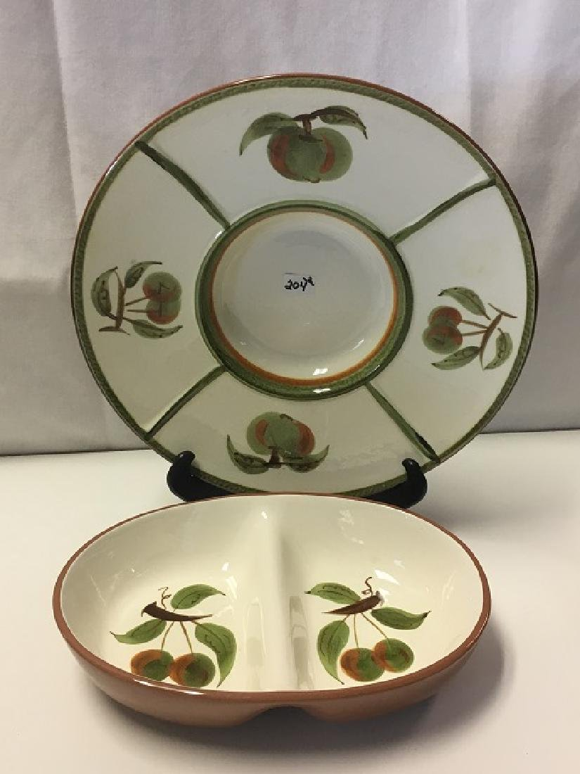 Stangl Tray and Sectioned Bowl