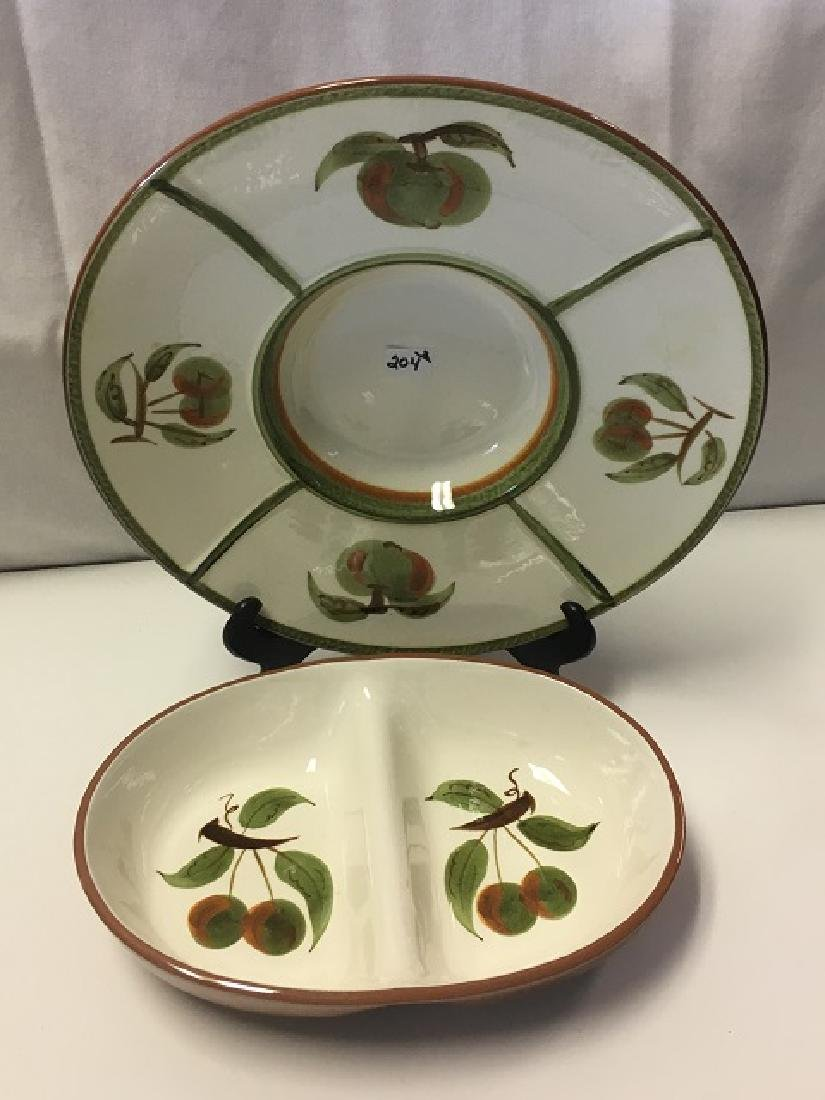 Stangl Tray and Sectioned Bowl - 2
