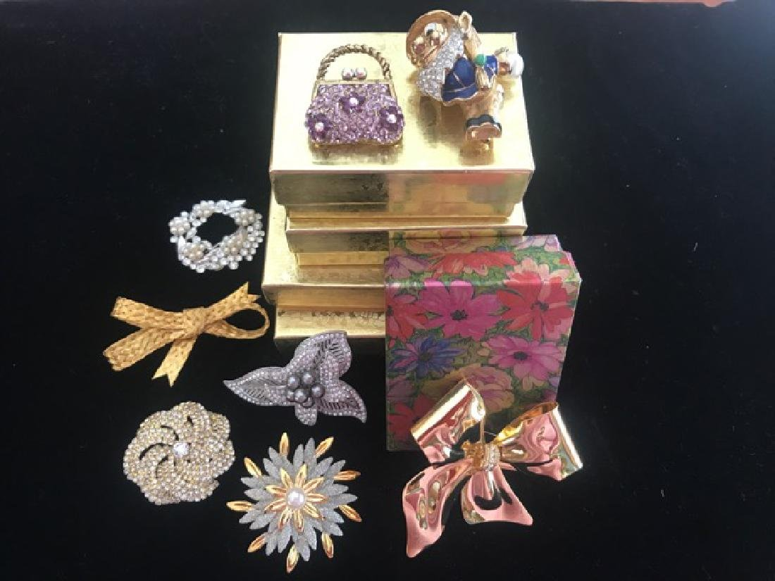 Eight Costume Jewelry Pins - 3