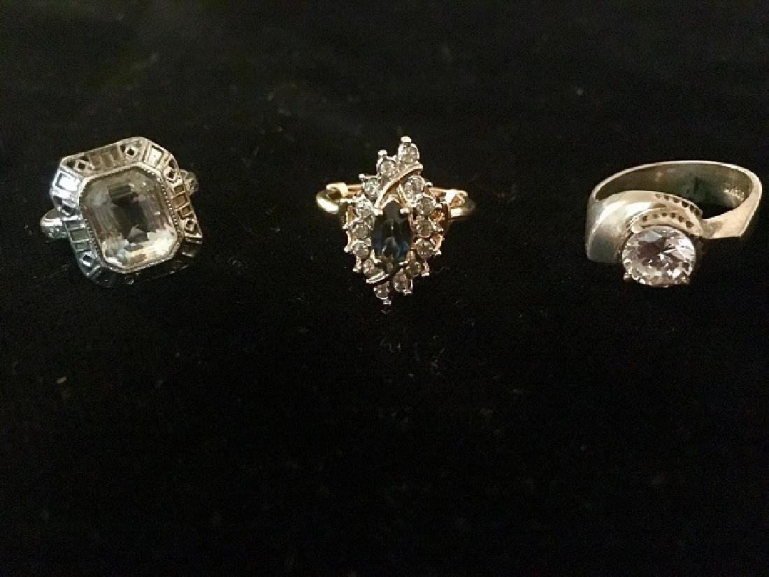 Lot of 3 Rings - Sterling and Plated