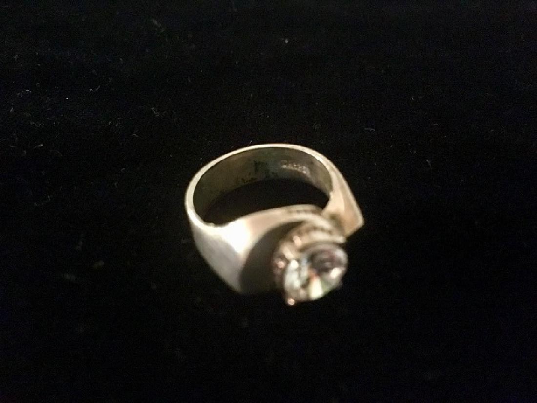 Lot of 3 Rings - Sterling and Plated - 3