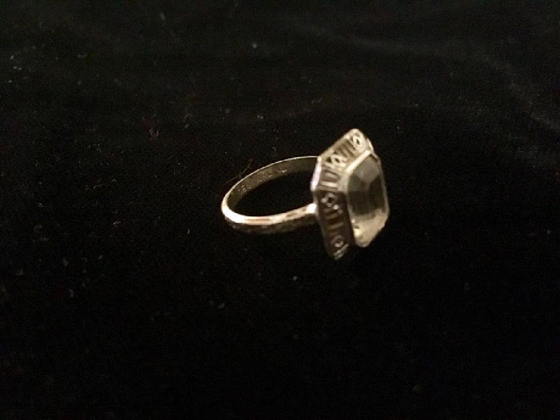 Lot of 3 Rings - Sterling and Plated - 9
