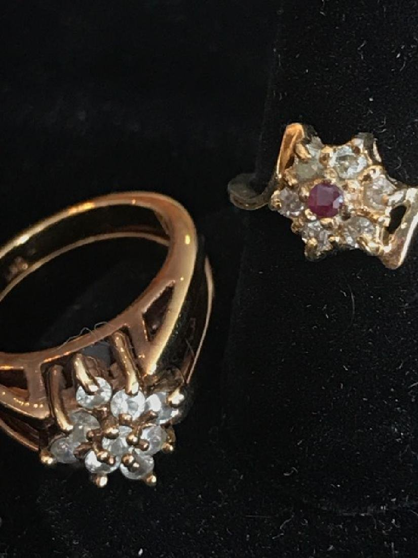 Two Ladies Costume Rings