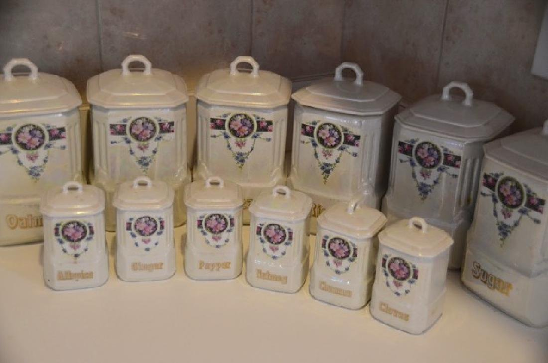 German Mepoco Ware Canister Set (12) - 5