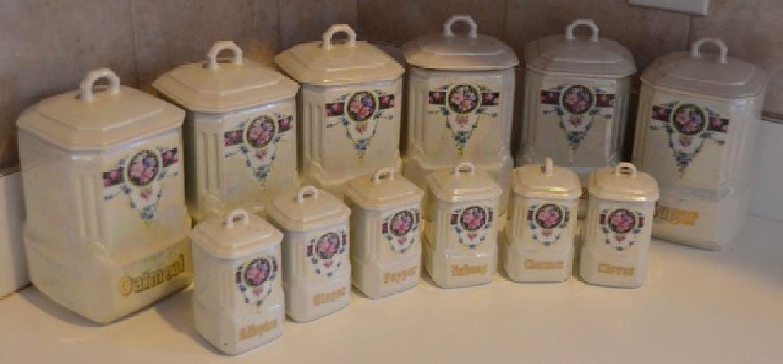 German Mepoco Ware Canister Set (12) - 6