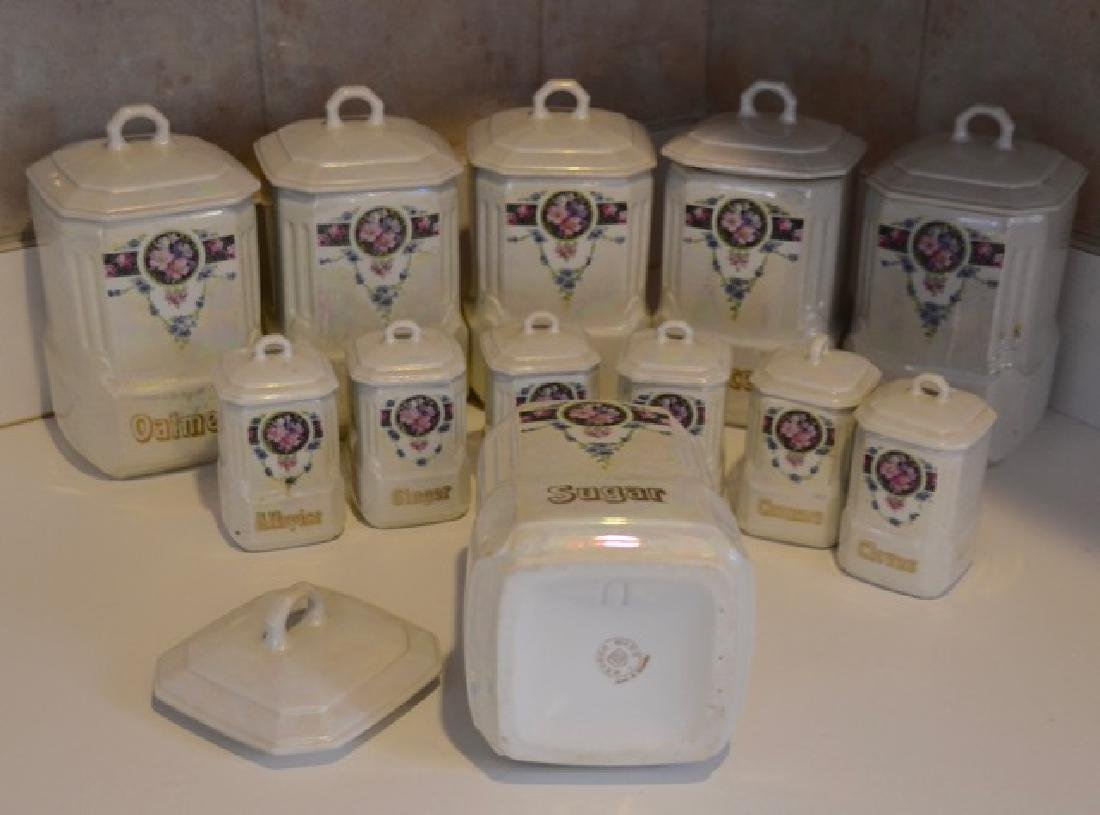 German Mepoco Ware Canister Set (12) - 8
