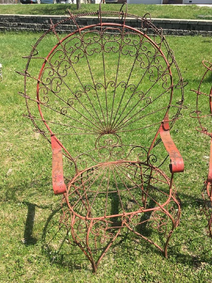 Victorian Twisted Wire Peacock Garden Settee & Chairs - 2